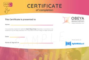 Obeya-Association-Certificate-AgileWalls