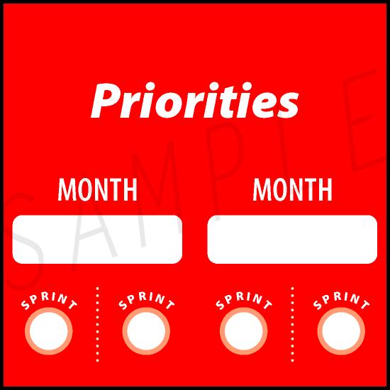 AgileWalls - Obeya - Priorities Element