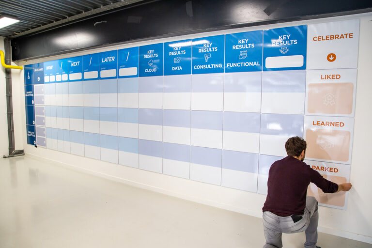 AgileWalls - Modular Whiteboard Wall full