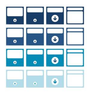 AgileWalls Top Row Elements - Marine